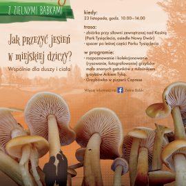 Jak przeżyć jesień w miejskiej dziczy_grzybobranie_plakat