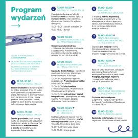Grafika, plakat z programem wydarzeń