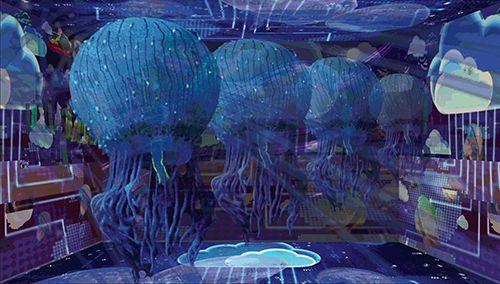 Praca artystyczna A Giant Swarm, Gretta Louw (AU)